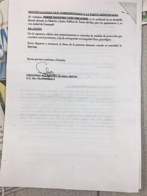 PDF: Denuncia presentada de Gloria Ordóñez pagina 02