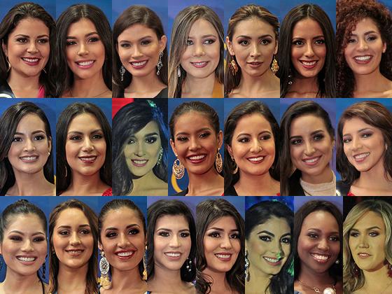 El rostro de las 22 aspirantes a la corona del Miss Ecuador 2018. Fotos: Mario Faustos / EL COMERCIO y Cortesía Miss Ecuador