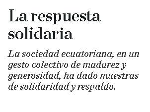 Editorial: La respuesta solidaria