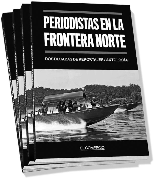 Portada del libro 'Periodistas en la frontera norte, dos décadas de reportajes', editado por Diario EL COMERCIO, que circulará el 10 de junio del 2018.