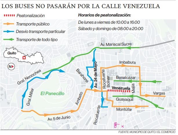 Calle Venezuela será peatonal seis horas al día, de lunes a viernes
