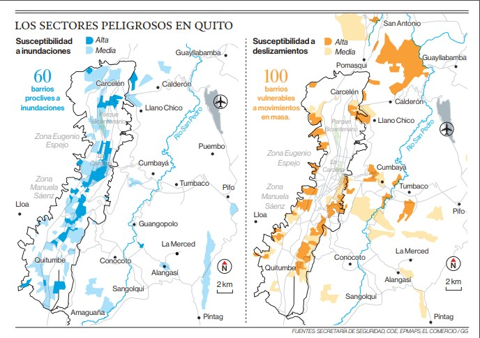 La tempestad del domingo 16 de septiembre activó Plan Lluvias en Quito