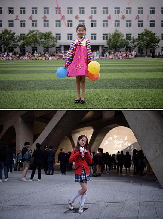 Niñas escuelas corea