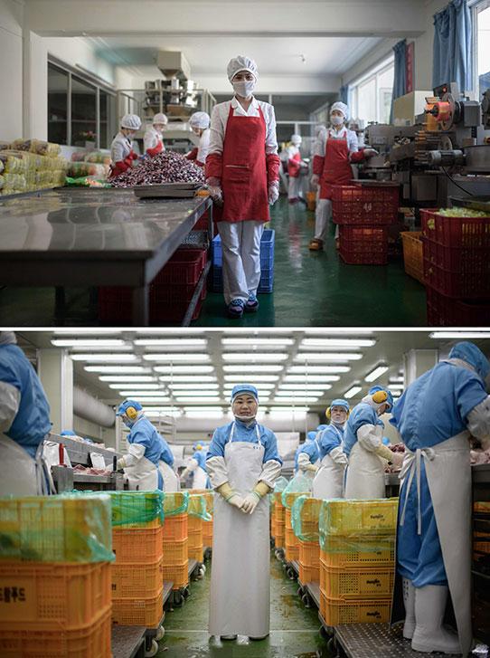 Trabajadoras empresa de alimento