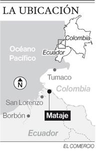 Los niños rompen la tensión en Mataje, un pueblo casi vacío