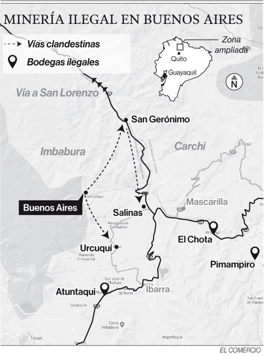 Un grupo ilegal armado incursionó en Buenos Aires, en Imbabura