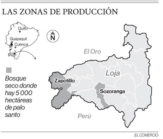 El aceite de palosanto de Loja llega a cinco países