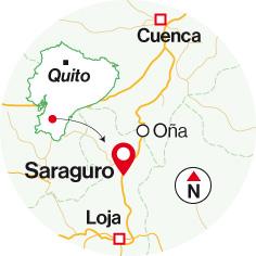Ubicación del cantón Saraguro