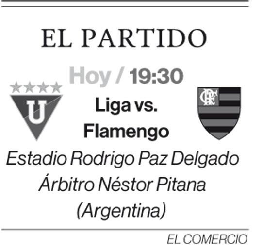 Liga de Quito repite alineación ante 'Fla' y se resiste a dejar la Copa Libertadores