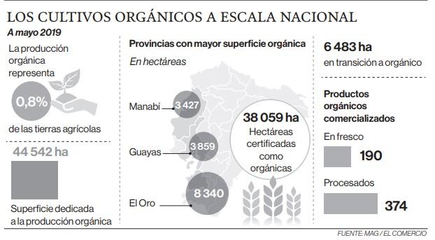 Los cultivos orgánicos a escala nacional