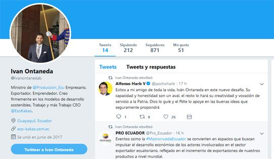 Iván Ontaneda es el nuevo Ministro de Comercio Exterior
