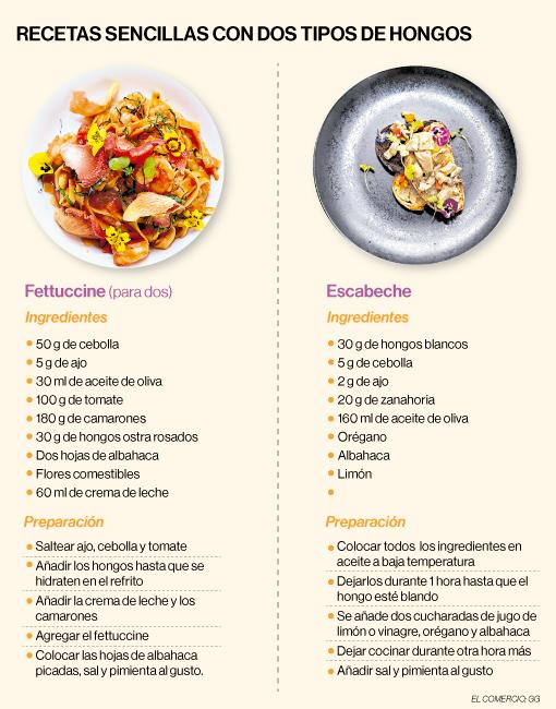 Des recettes simples avec deux types de champignons