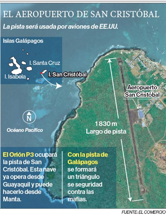 Naves de Estados Unidos llegarán una vez al mes a Galápagos