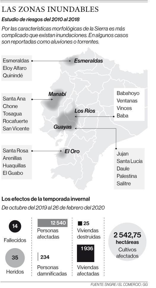 Mapa de inundaciones identifica 28 sitios como más vulnerables