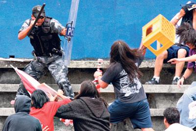 Escena de violencia en Quito