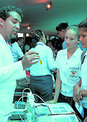 Estudiantes universitarios de Ecuador