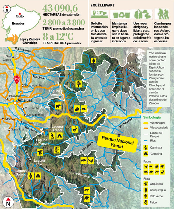 Mapa reserva Yacuri