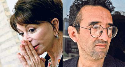 Isabel Allende (Izq.) y Roberto Bolaño (der.)