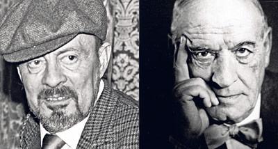 Agustín Cueva (Izq.) y José Ortega y Gasset (der.)