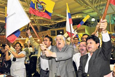 Alianza País festeja