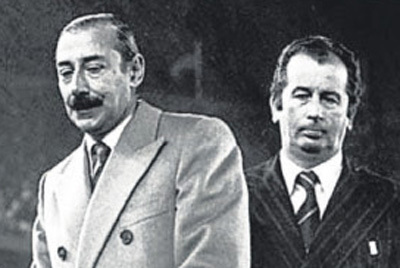 Grondona junto a Jorge Rafael