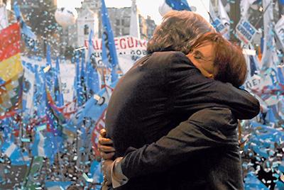 Néstor Kirchner y su esposa