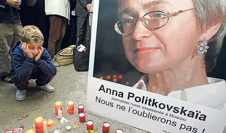 La periodista Anna Politkóvskaya