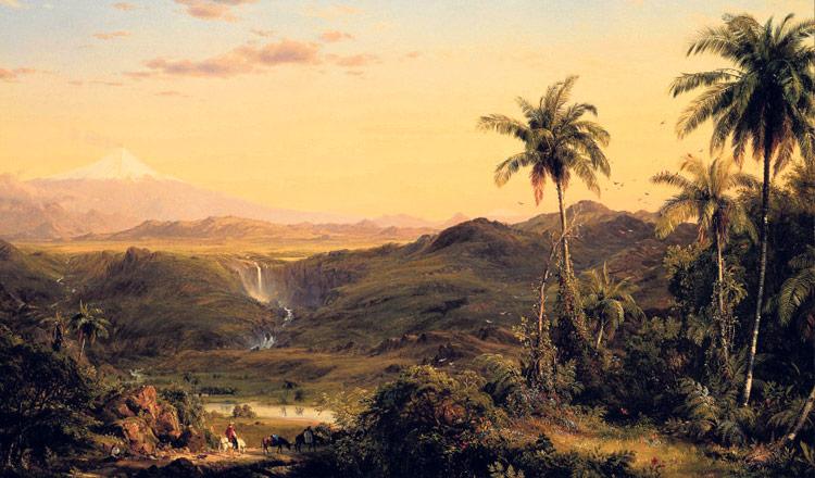 Visión pictórica del Cotopaxi