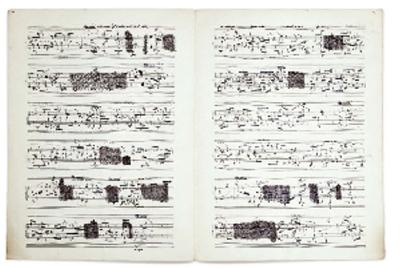Una partitura de Pierre Boulez
