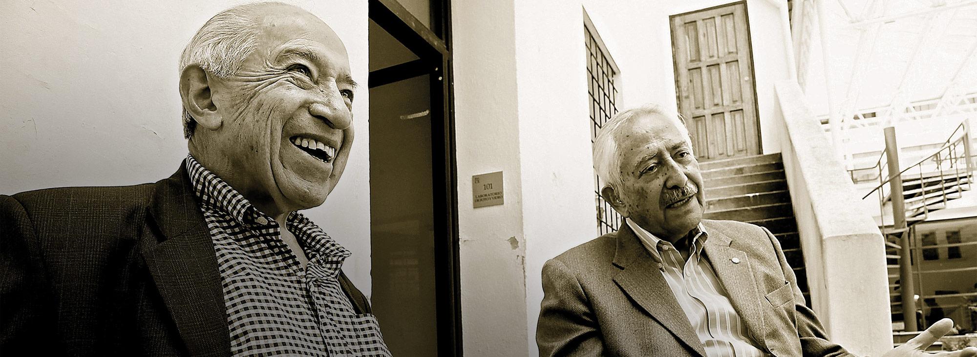 Roque y Asdrúbal fueron homenajeados esta semana en el encuentro 'Humor y tolerancia desde la Mitad del Mundo'